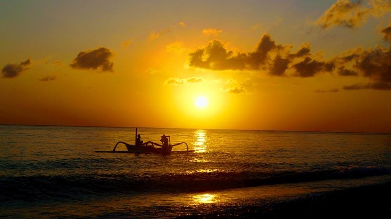 Watching Sunrise Amed Karangasem Bali