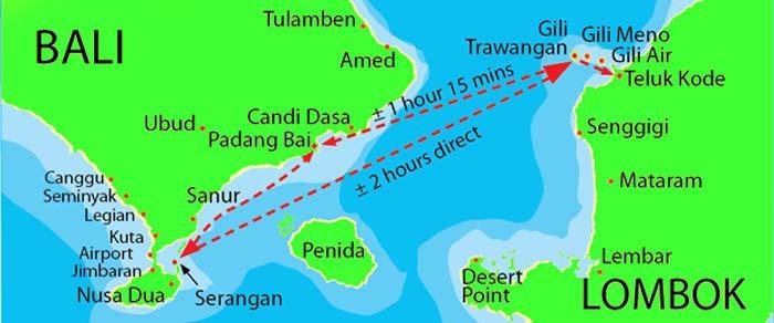 gili gili lombok island map