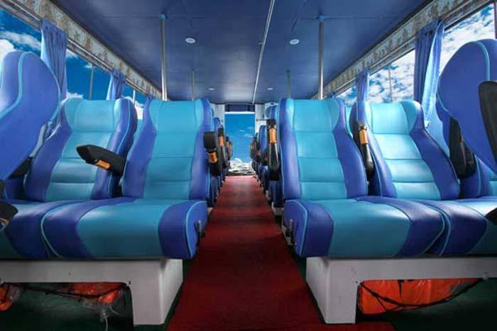 passenger seat with life jacket