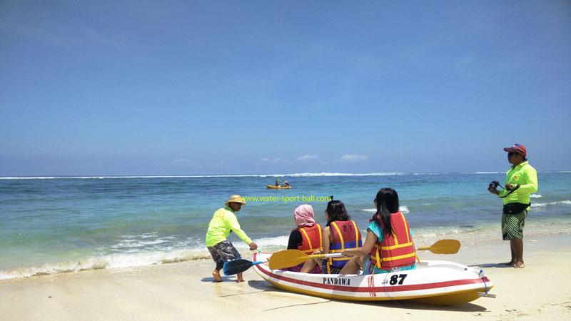 Canoe RIde On Pandawa Beach Kutuh Bali