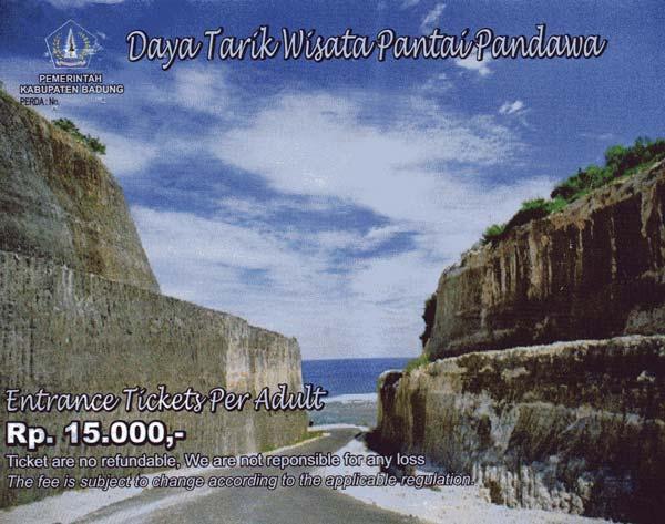 Pandawa Beach Entrance Fee