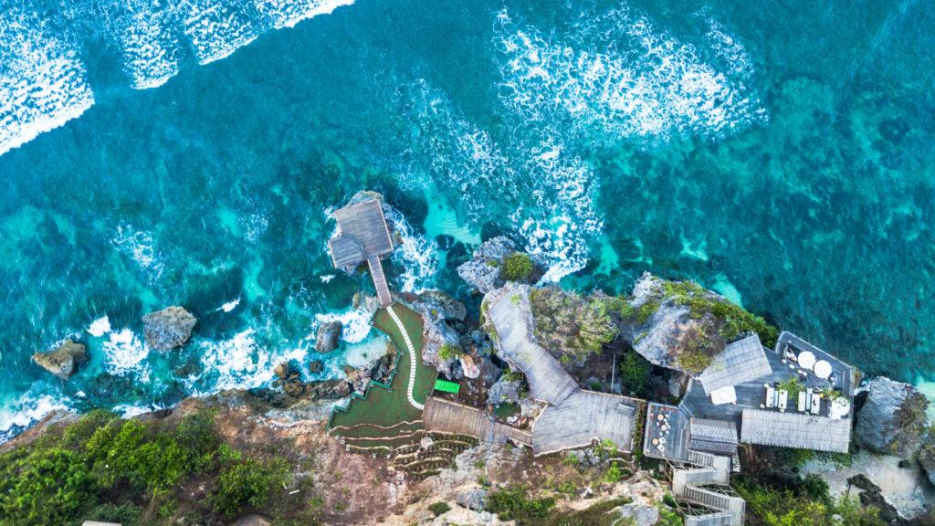 Padang Padang Beach Bali Aerial View