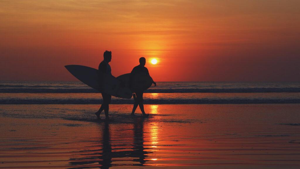 Sunset View on Kuta Beach Bali