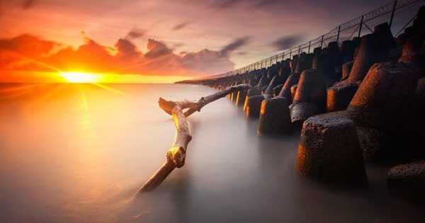 Sunset At Kelan Beach Bali