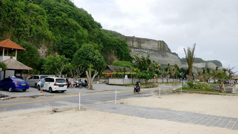 Bali Melasti Beach Vehicle Parking Area