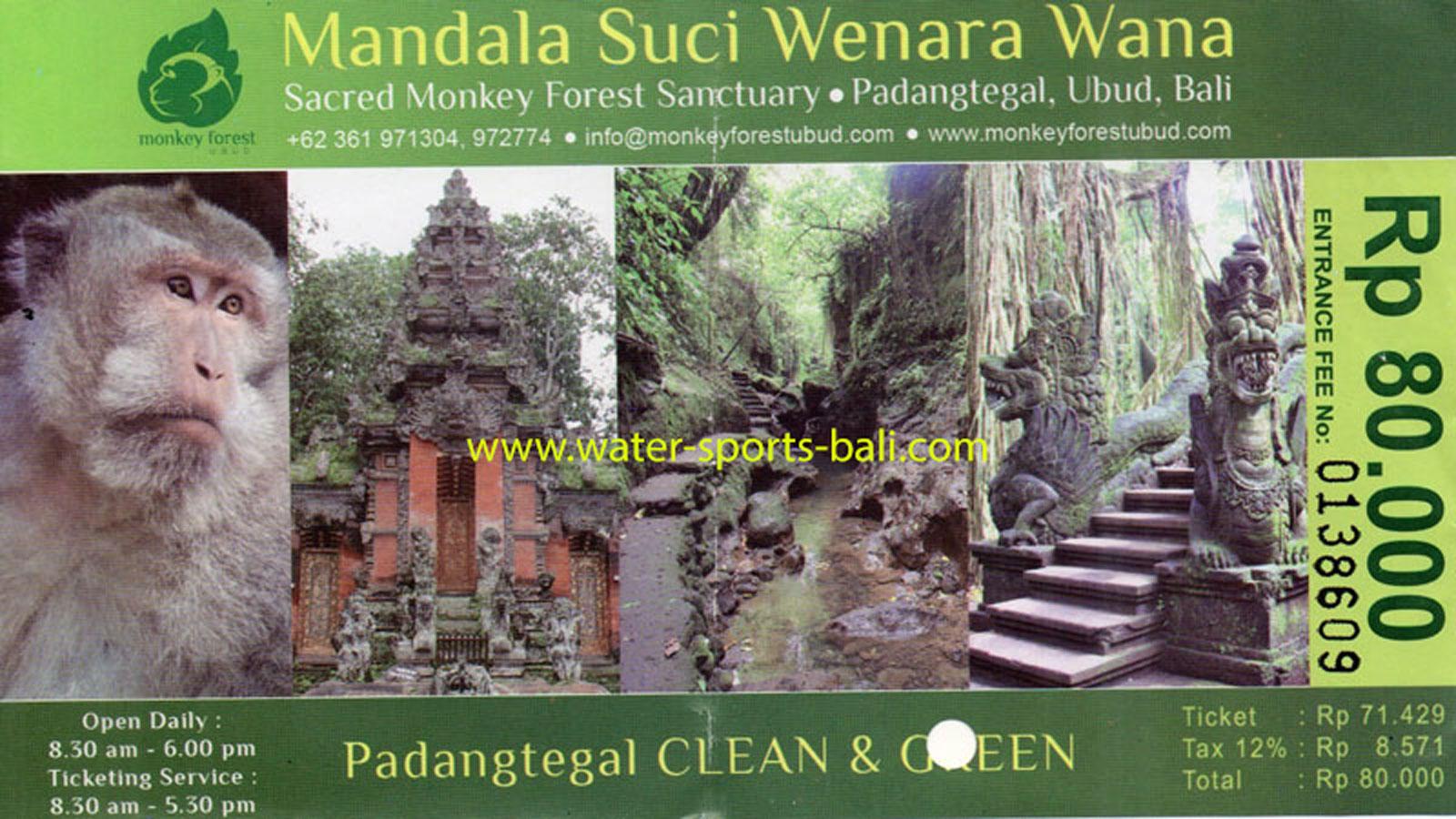 Monkey Forest Ubud Entrance Fee Price