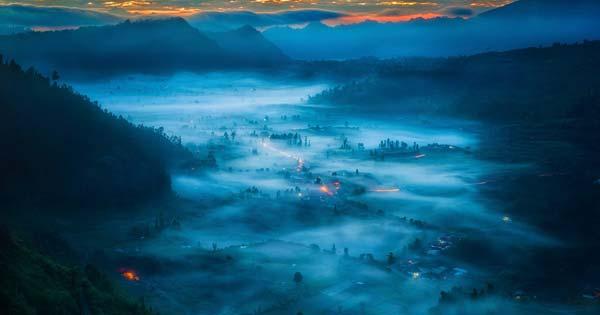 Pinggan Village Kintamani Lake Volcano Sunrise View