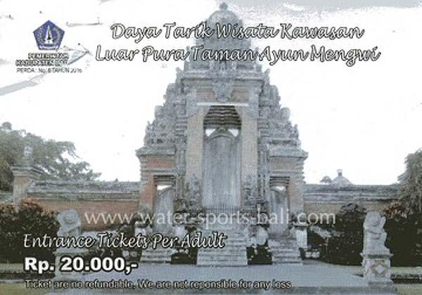Taman Ayun Temple Entrance Fee Price