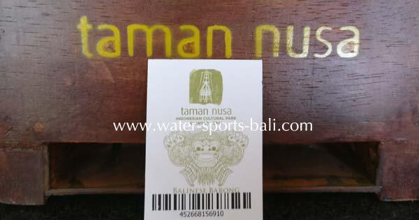 Taman Nusa Cultural Park Bali Entry Fee Price