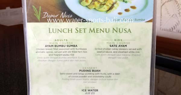 Taman Nusa Gianyar Set Menu Lunch