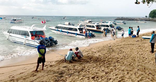 Public Speedboat Jetty Location At Sanur Beach Bali