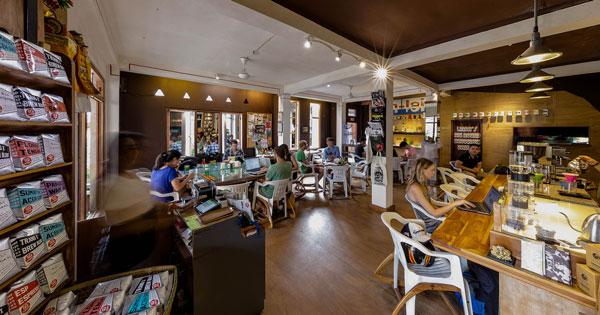 Seniman Coffee Interior At Ubud Bali