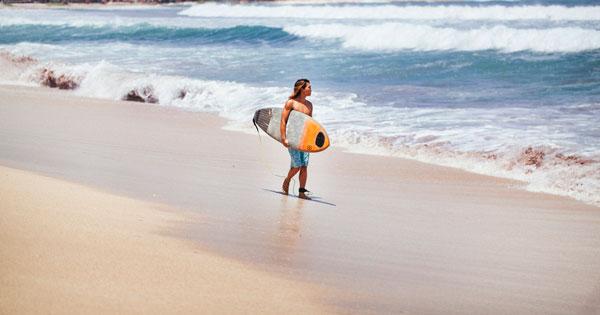 Legian Clean White Sand Beach