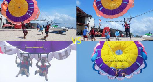 Differences Between Single Parasailing VS Parasailing Adventure In Bali