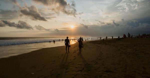 Batu Belig Beach Kerobokan Attraction