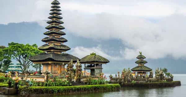 Ulun Danu Temple Bali At Lake Beratan Bedugul