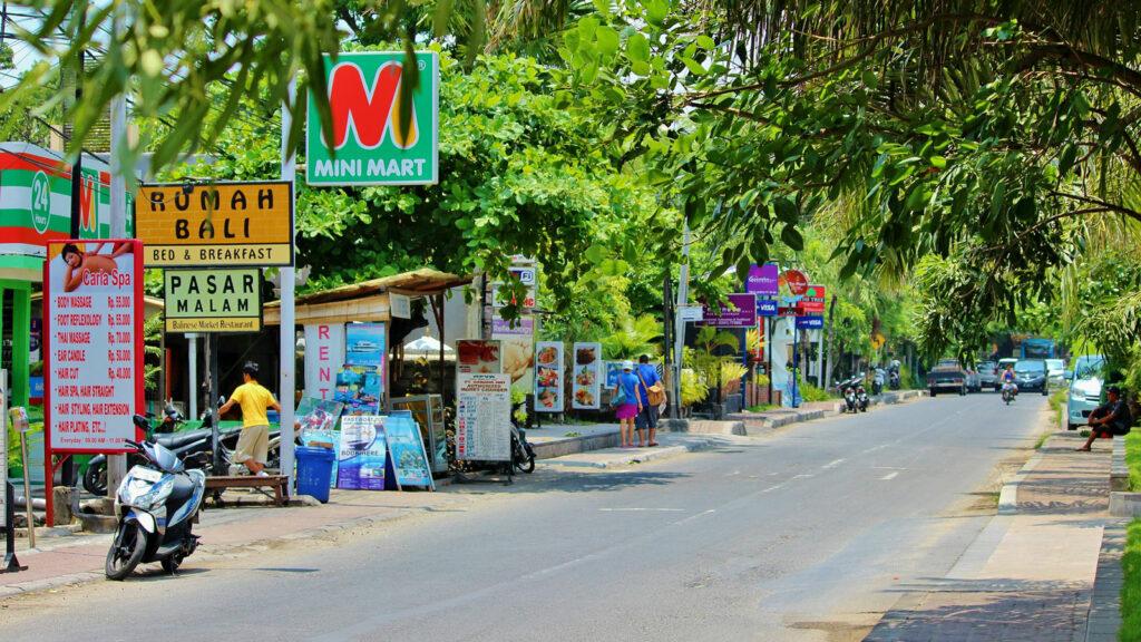 Road Heading To The Nusa Dua Beach