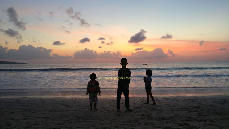 Jimbaran Beach Bali Sunset Scenery