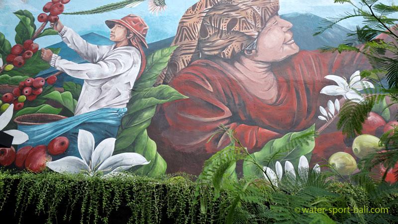 Large Size Painting at Starbucks Bali