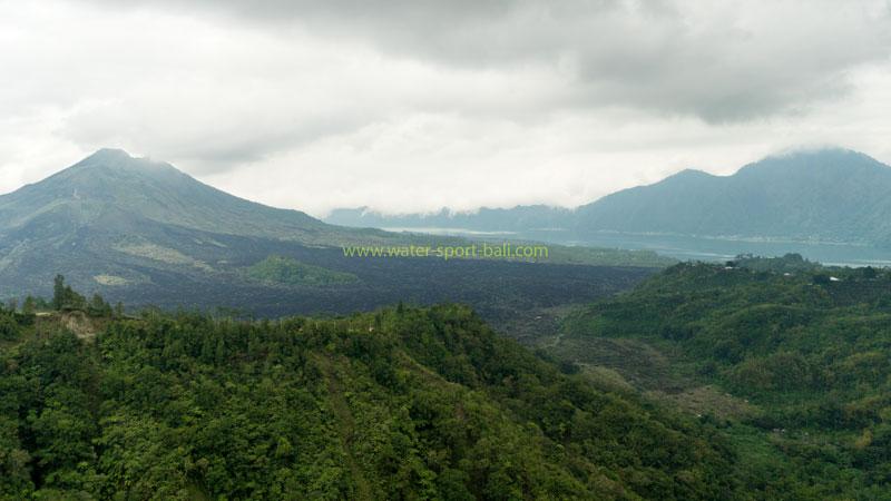 View of Mount Batur Kintamani at Noon