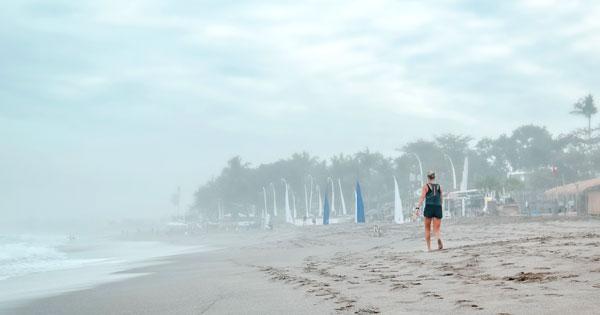 Walk Along The Seminyak Beach Shoreline