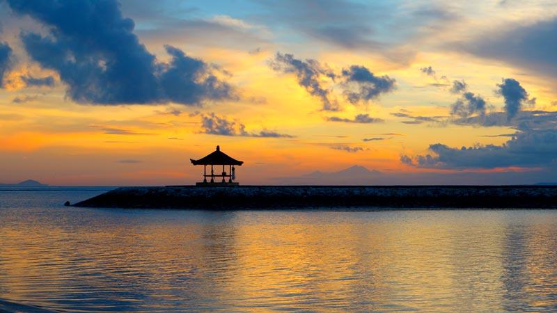 Watching the Sunrise In Matahari Beach Sanur