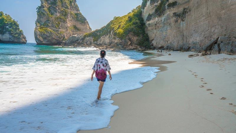 White Sand Beaches in Nusa Penida