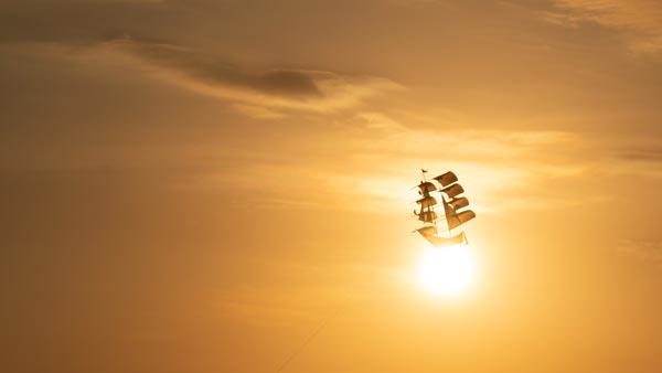 Playing Kites in Kuta Beach