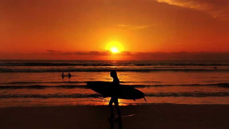 Legian Beach Bali Sunset